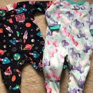 Children's Place and Gymboree Footie pajamas